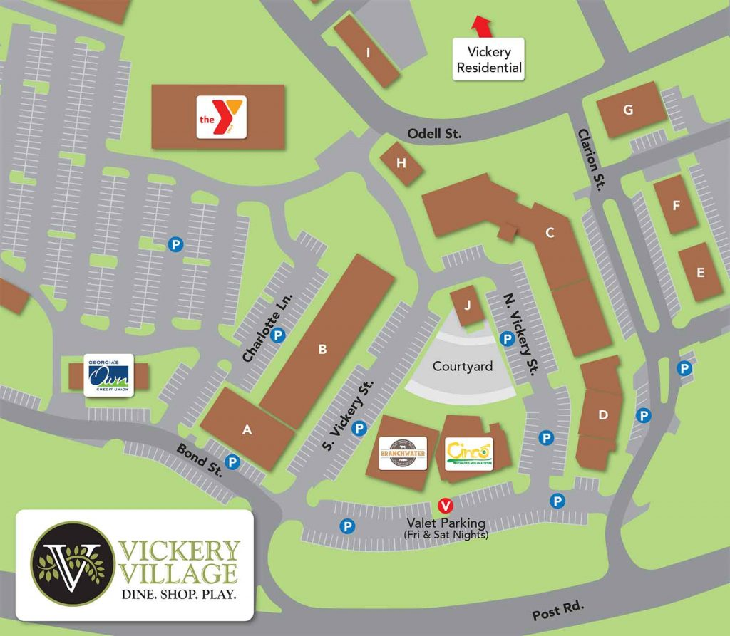 Vickery Village Map