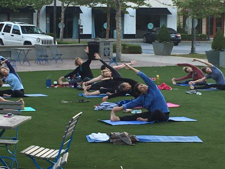 Sunrise Yoga in the Courtyard @ Vickery Village Courtyard