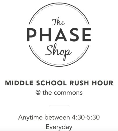Middle School Rush Hour at The Commons @ The Commons at Vickery Village
